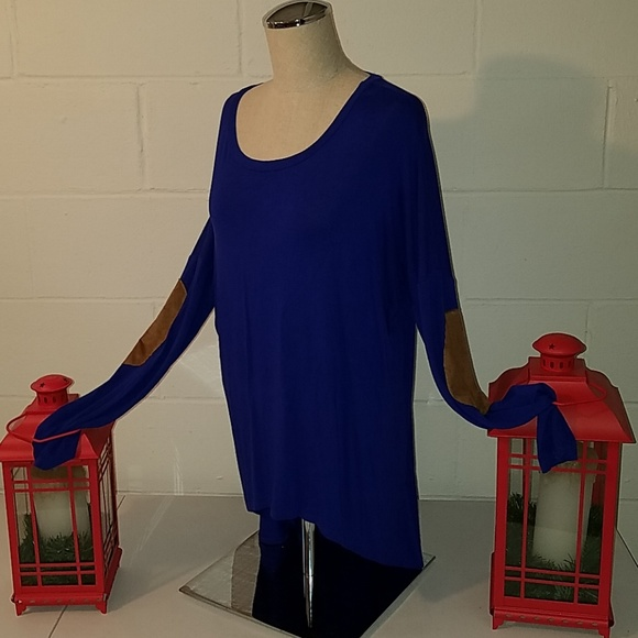 Auditions Tops - Blue long sleeve size large